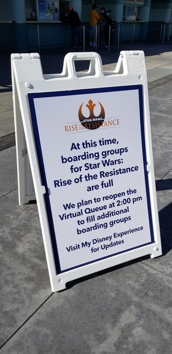 Rise of the Resistance no-more-boarding-groups sign