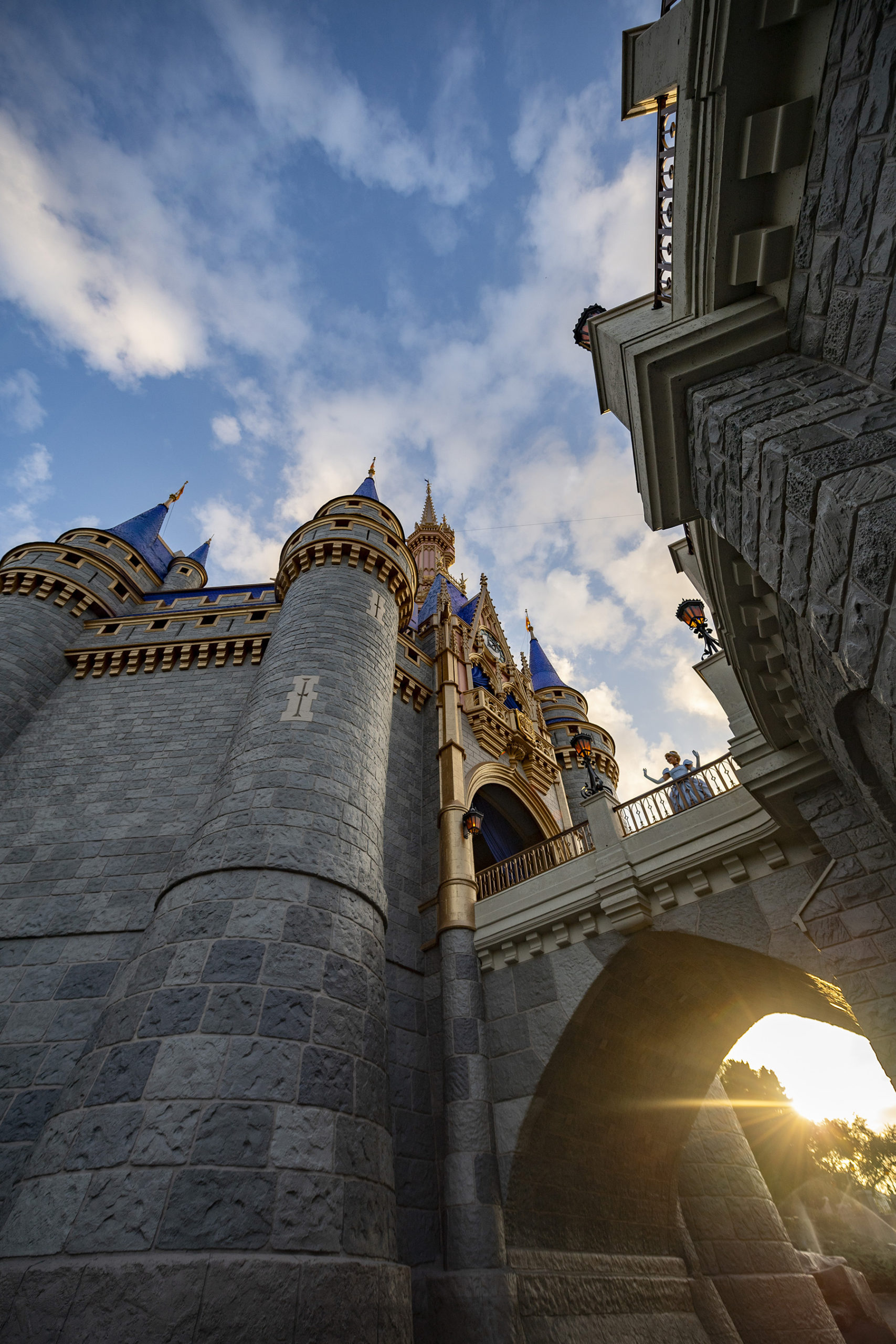 Cinderella Castle looking massive from a low perspective