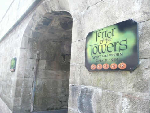 Terror of the Towers sign