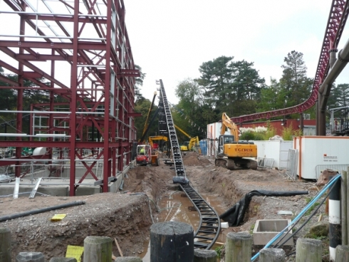 SW6 lift hill construction image