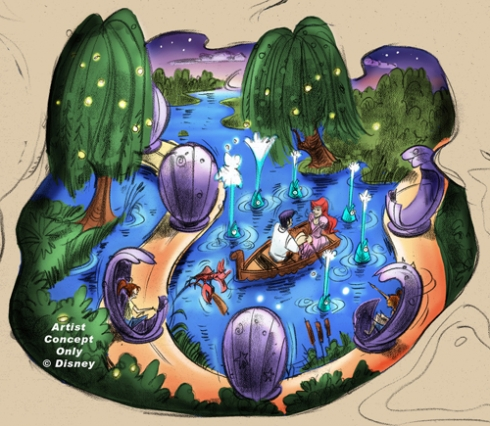 Little Mermaid ride building concept art