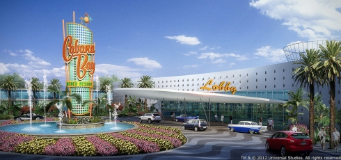 Cabana Bay Beach Resort concept art
