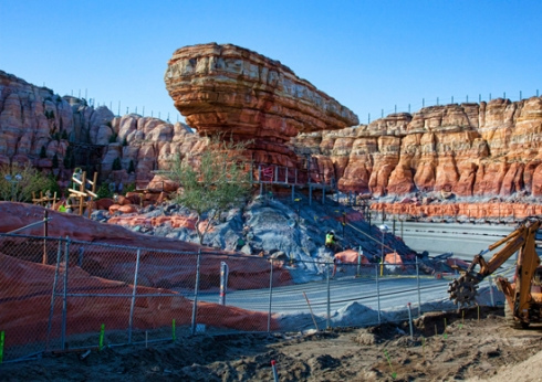 Cars Land construction (4)