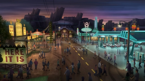 Downtown Radiator Springs concept art