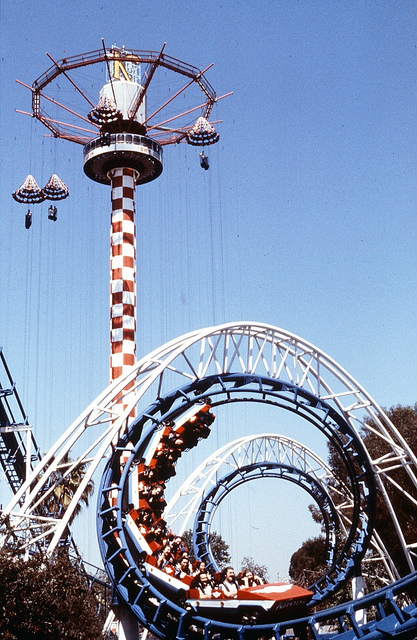 Corkscrew at Knott's Berry Farm circa 1980