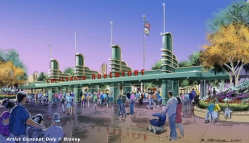 Disney California Adventure new entrance concept art