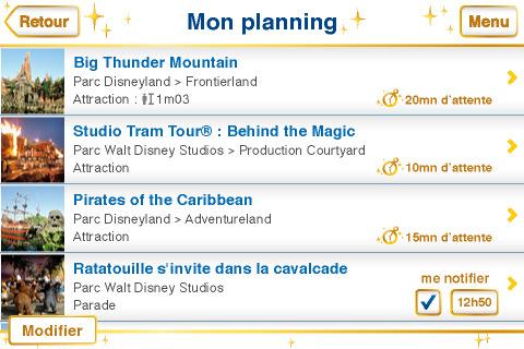 Disneyland Paris iPhone app screenshot