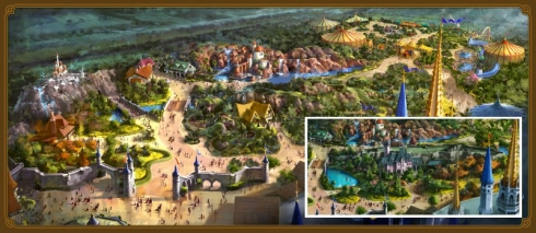 Fantasyland before and after