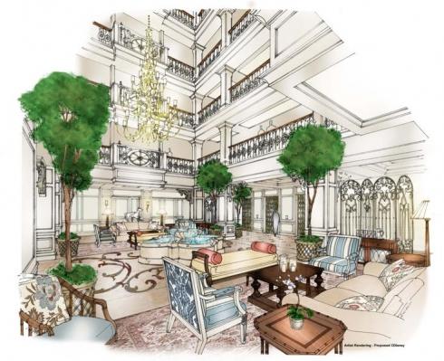 Grand Floridian Resort interior concept art