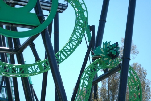 Green Lantern: First Flight mid-circuit