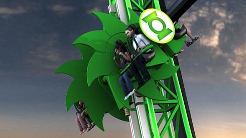 Green Lantern rollercoaster concept art