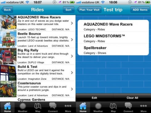 LEGOLAND Florida iPhone app screenshots