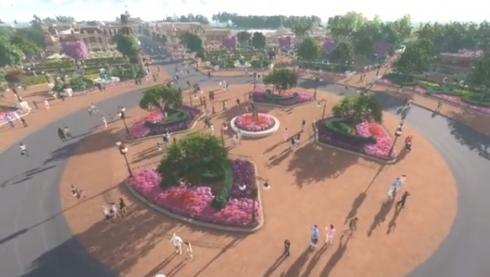 Magic Kingdom Central Plaza artwork