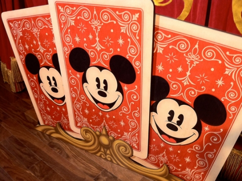 Magician Mickey cards