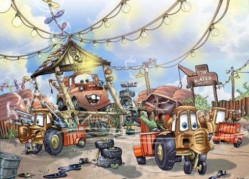 Mater's Junkyard Jamboree concept art