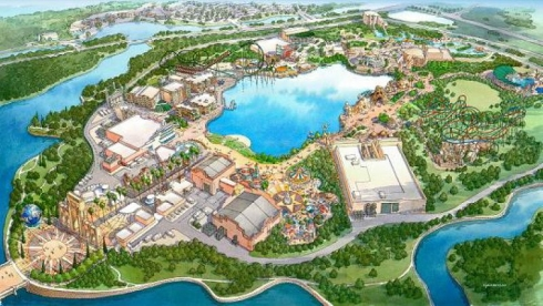 Old concept art of Universal Studios South Korea. Image © Universal.
