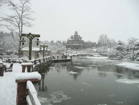 Frontierland in the snow