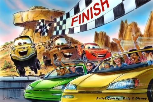 Radiator Springs Racers ending concept art