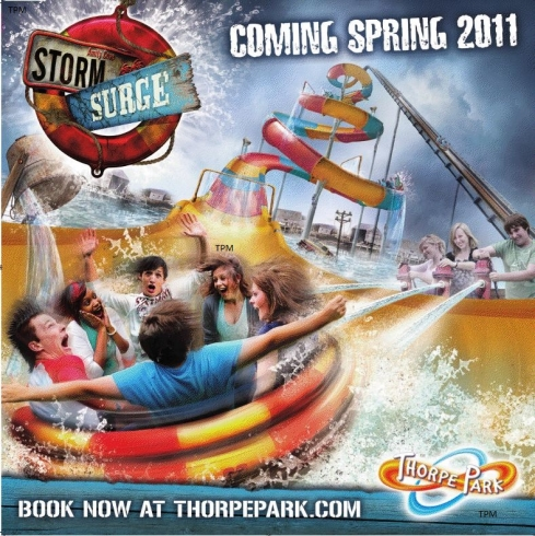 Thorpe Park Storm Surge artwork