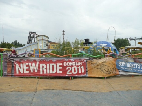 Thorpe Park new ride banner