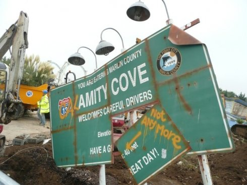 Calamity Cove sign image
