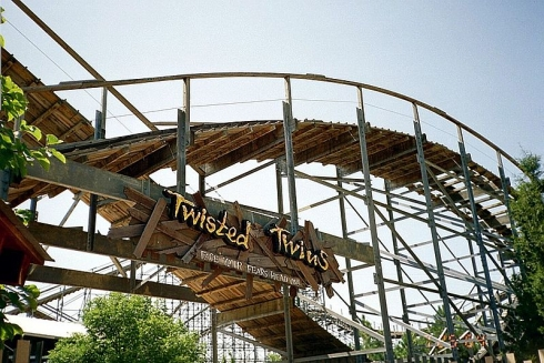 Twisted Twins rollercoaster entrance