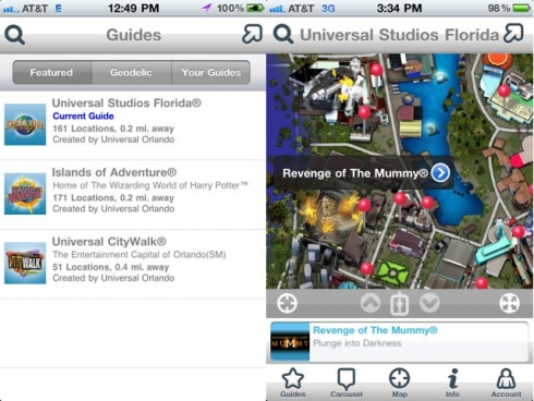 Universal Orlando iPhone app screenshots