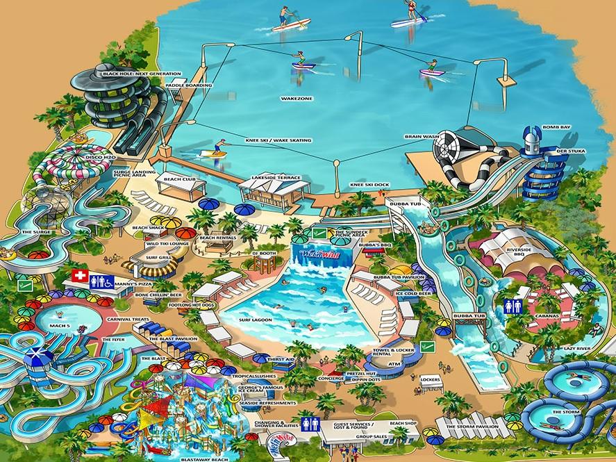map of wet n wild orlando Wet N Wild Orlando Map Theme Park Tourist map of wet n wild orlando
