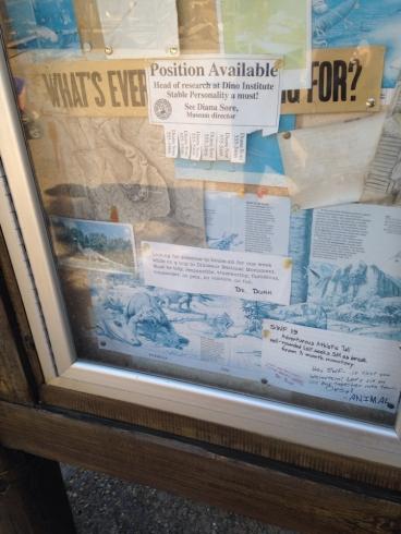Dinoland bulletin board