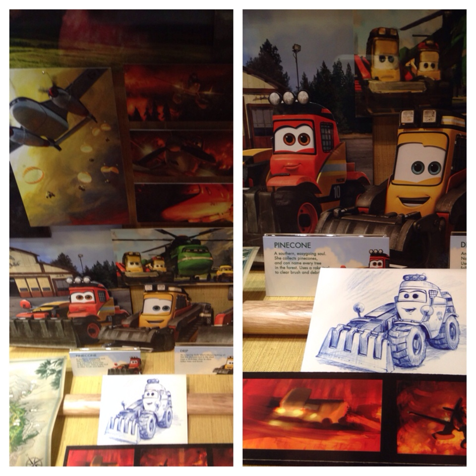 Displays in the Animation Building at Disney's Hollywood Studios