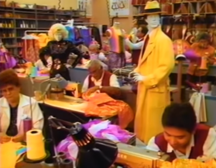 Dick Tracy in the costuming department