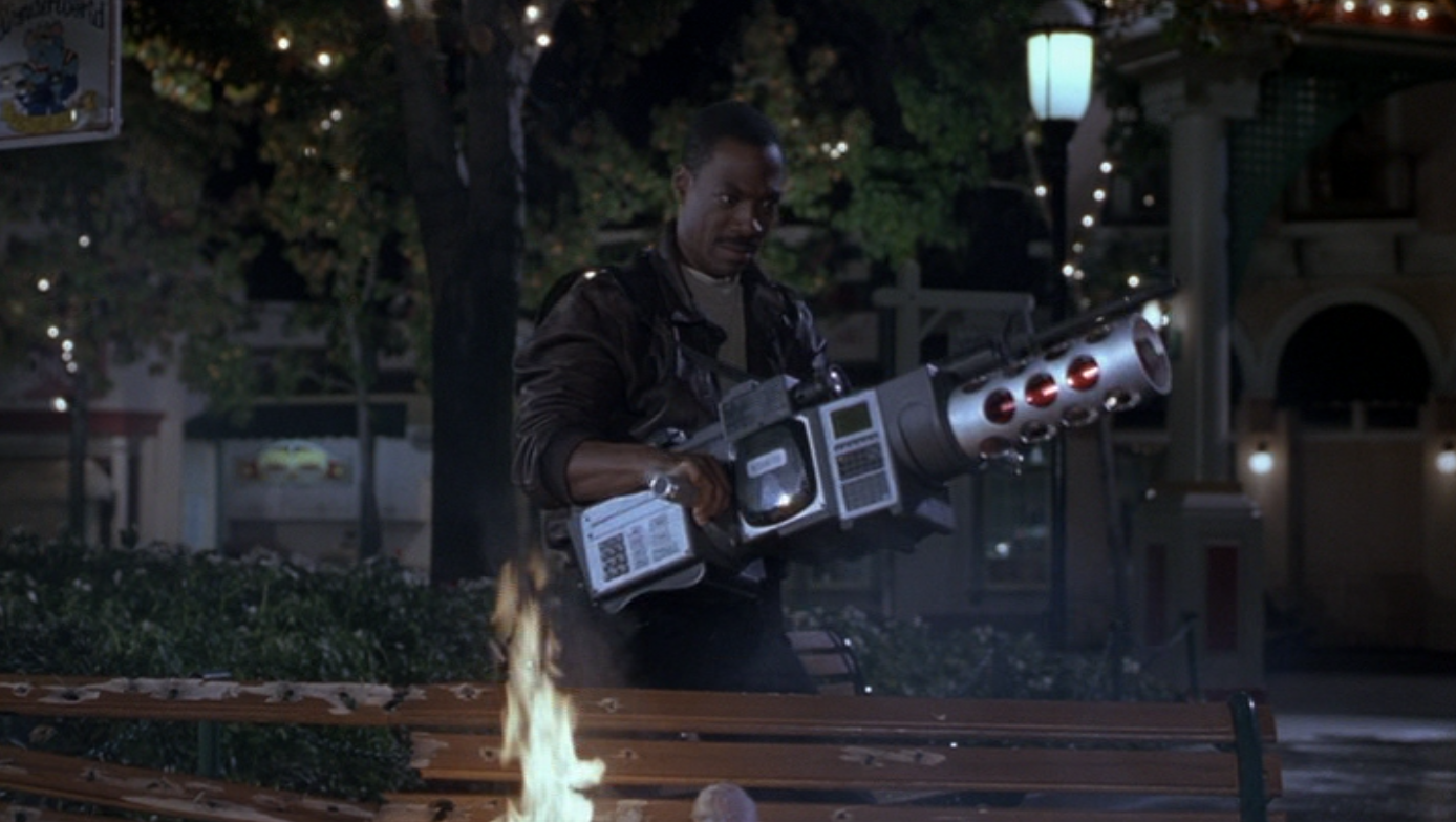 Axel Foley with the Annihilator