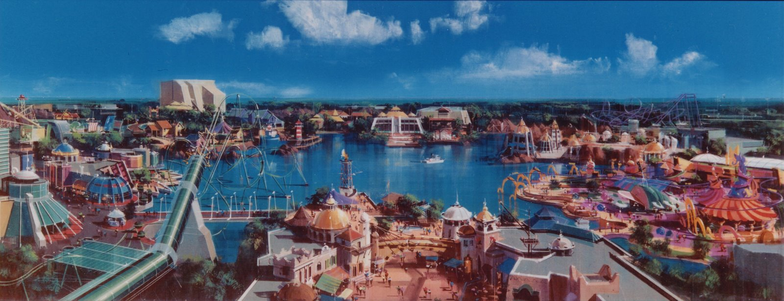 Islands of Adventure panoramic painting