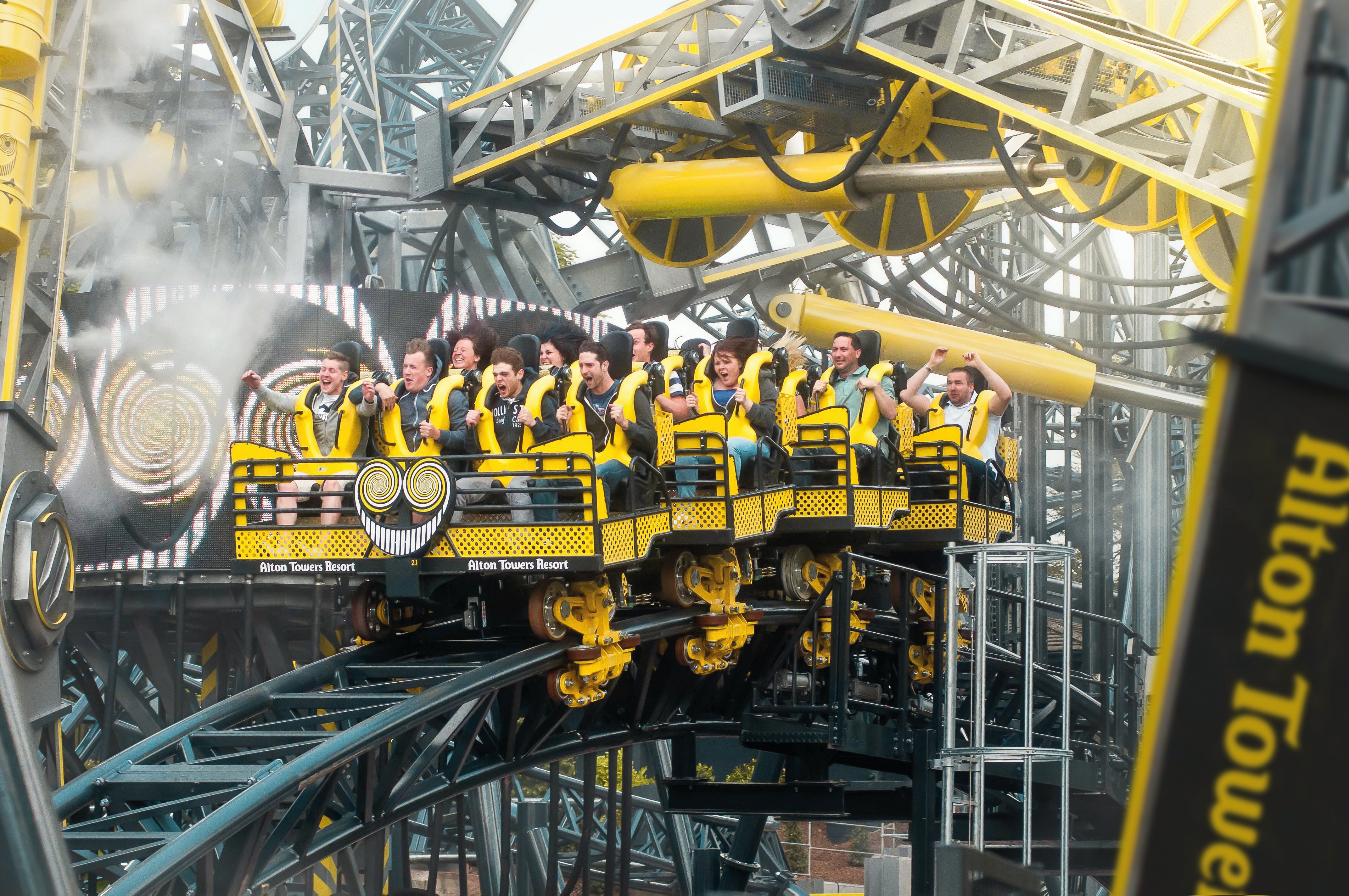 Guests on The Smiler at Alton Towers