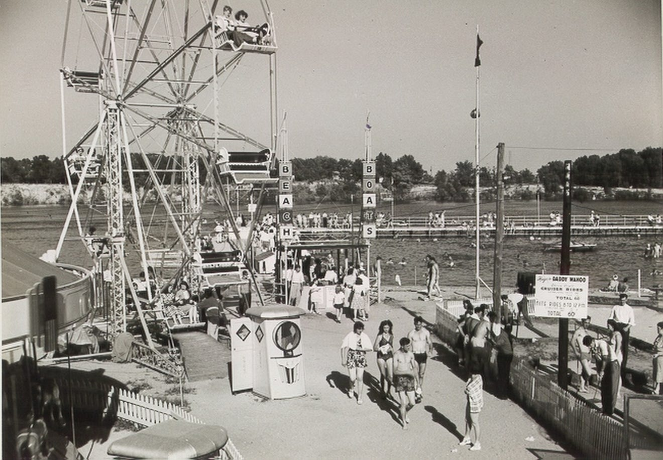 Old shot of Indiana Beach