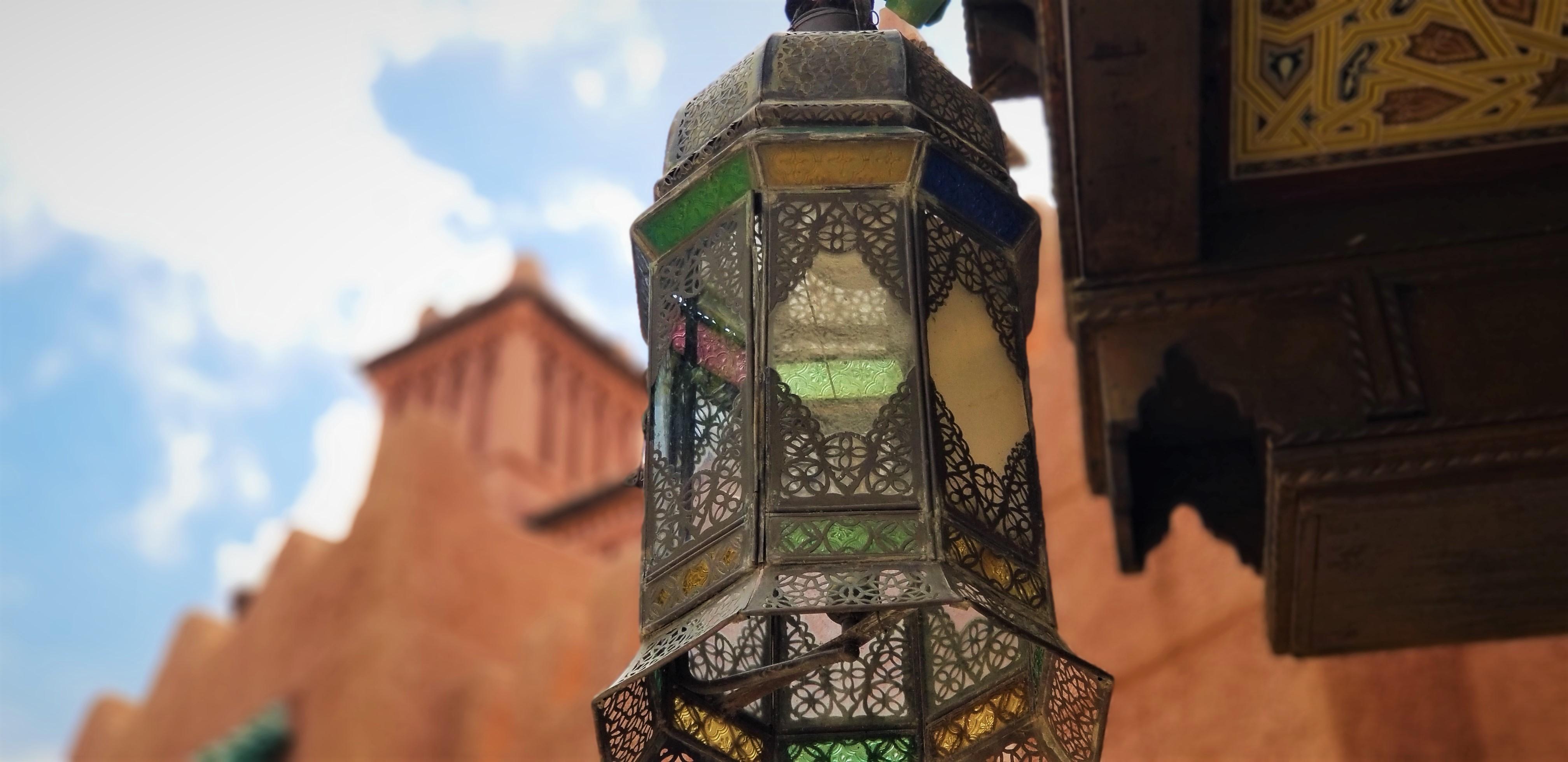 Colored lantern at Morocco pavilion