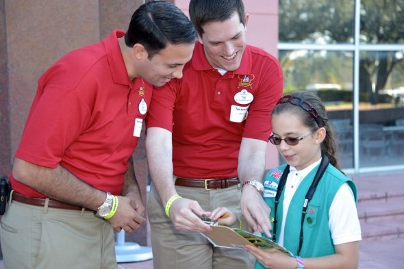 Disney Cast Members with Girl Scout