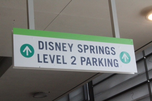 Disney Springs Parking Sign