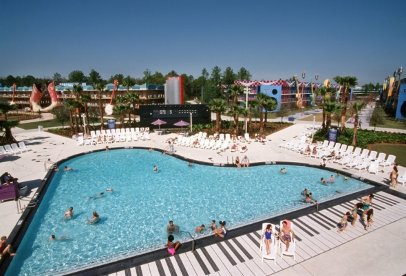 Giant piano pool at All-Star Music Resort
