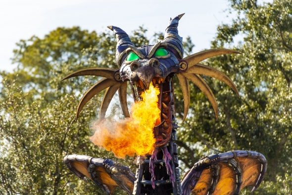 Maleficent dragon spewing fire