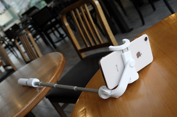 Selfie Stick on a table