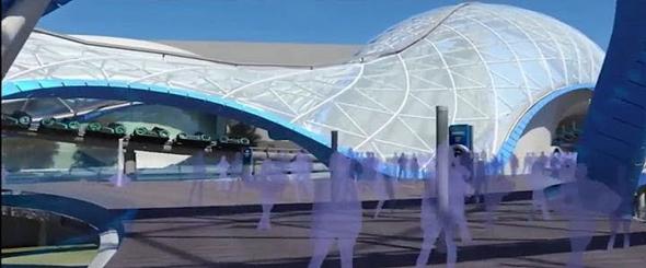 Tron Lightcycle Power Run canopy concept art
