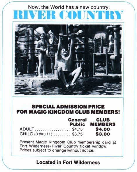 A 1978 ad for River Country.