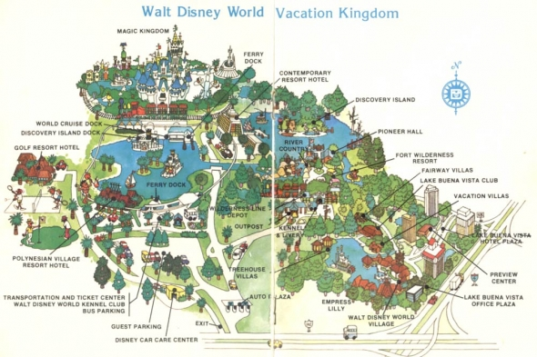 1979 Walt Disney World map