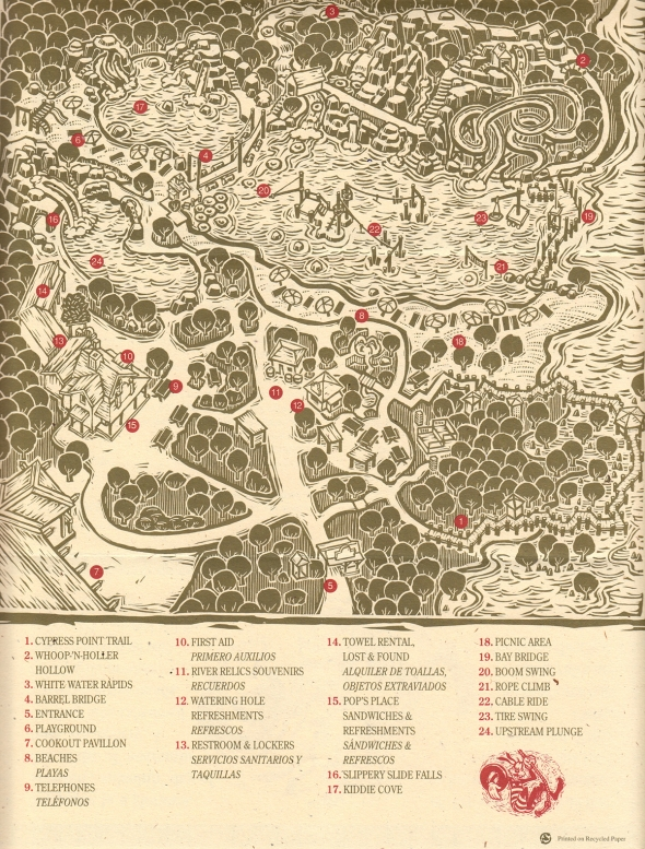 1993 River Country Map