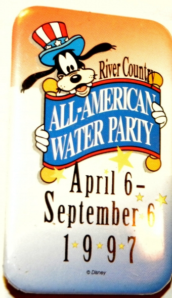1997 All-American Water Party Button