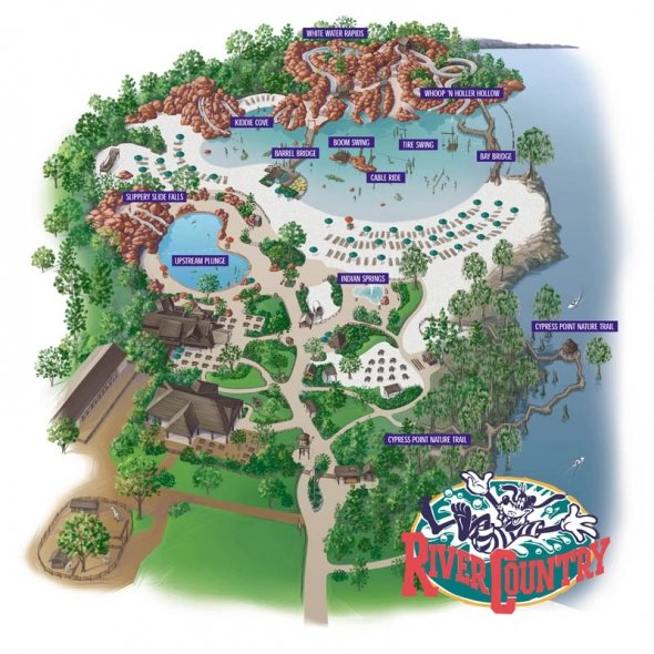 River Country map