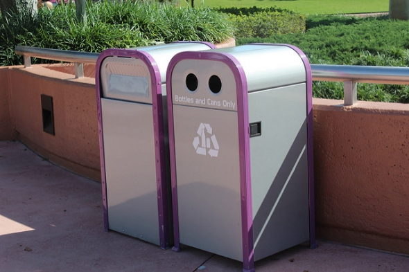 Trash cans at Disney
