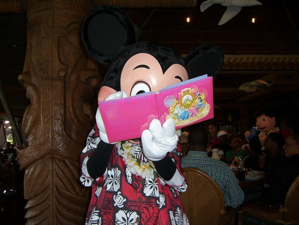 Mickey Signing his Autograph
