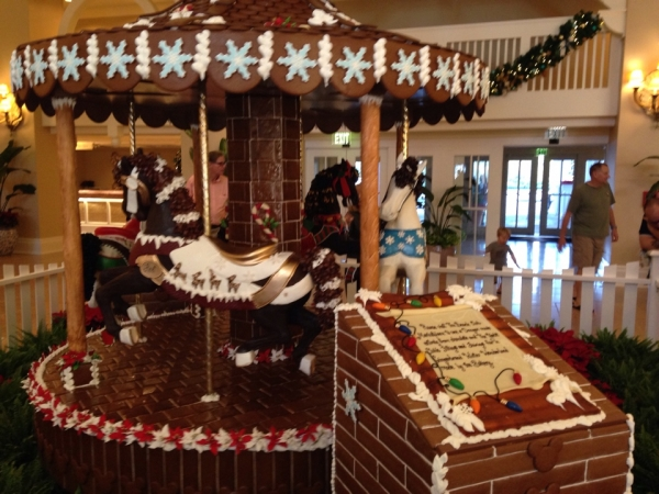 Yacht and Beach Club Gingerbread Carousel